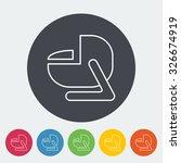child car seat icon. thin line... | Shutterstock . vector #326674919