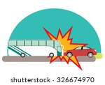 Road Accident. Bus With...
