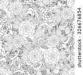 floral hand drawn seamless... | Shutterstock .eps vector #326676854