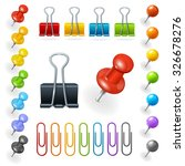 pins and paper clips collection.... | Shutterstock .eps vector #326678276