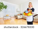 Maid Woman With Tools. House...