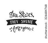 vector hand drawn lettering... | Shutterstock .eps vector #326684768