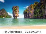 james bond island near phuket... | Shutterstock . vector #326691044