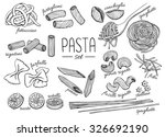 Vector Hand Drawn Pasta Set....