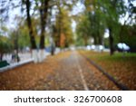 Background Autumn Leaves In Th...