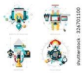 seo development concept set... | Shutterstock .eps vector #326701100
