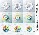 set of 9 modern infographics... | Shutterstock .eps vector #326702126