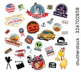 america. stickers and symbols... | Shutterstock .eps vector #326702858