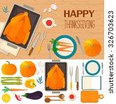 typical festive thanksgiving... | Shutterstock .eps vector #326703623