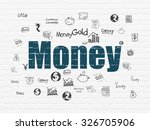 currency concept  painted blue... | Shutterstock . vector #326705906