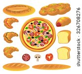 set of bread and buns. vector... | Shutterstock .eps vector #326708276