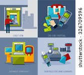 atm design concept set with... | Shutterstock .eps vector #326709596