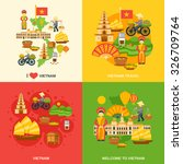 vietnam design concept set with ...