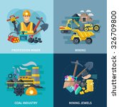 mining design concept set with... | Shutterstock .eps vector #326709800