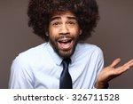 funky afro man | Shutterstock . vector #326711528
