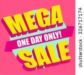 mega sale design  comics style. | Shutterstock .eps vector #326717174