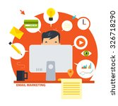 flat e mail marketing icons | Shutterstock .eps vector #326718290