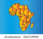 map of africa. the african... | Shutterstock .eps vector #326719904