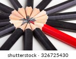 red pencil standing out from...   Shutterstock . vector #326725430