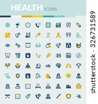 set of colorful flat icons... | Shutterstock .eps vector #326731589