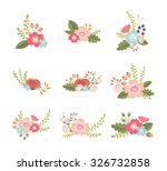 set of lovely flower design... | Shutterstock .eps vector #326732858