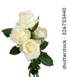 Stock photo white roses isolated 326733440