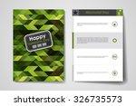 set of brochure  poster... | Shutterstock .eps vector #326735573