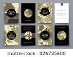 set of brochure  poster... | Shutterstock .eps vector #326735600