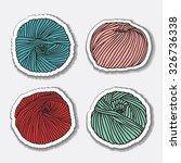 set of yarn skeins. different... | Shutterstock .eps vector #326736338
