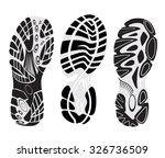 footprint sport shoes | Shutterstock .eps vector #326736509