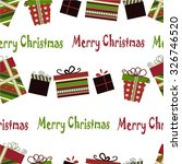 retro christmas gift boxes... | Shutterstock .eps vector #326746520