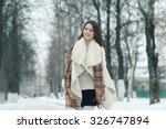 winter snow portrait of beauty | Shutterstock . vector #326747894