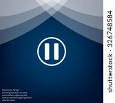 pause button vector icon | Shutterstock .eps vector #326748584