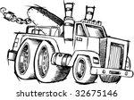 sketchy tow truck vector...   Shutterstock .eps vector #32675146
