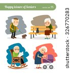 retirement old people free time.... | Shutterstock .eps vector #326770283
