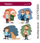 volunteers care for the elderly ... | Shutterstock .eps vector #326770304
