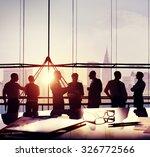 business people meeting... | Shutterstock . vector #326772566