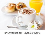 morning cup of coffee and... | Shutterstock . vector #326784293
