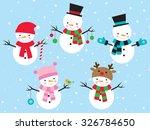 vector illustration of snowman... | Shutterstock .eps vector #326784650