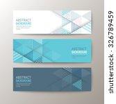 set of modern design banners...   Shutterstock .eps vector #326789459