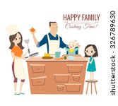 happy family with parents and... | Shutterstock .eps vector #326789630