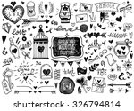 vector set of hand drawn... | Shutterstock .eps vector #326794814