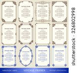 vintage frames and borders set  ... | Shutterstock .eps vector #326802998