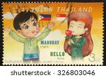 thailand   circa 2014 a stamp...   Shutterstock . vector #326803046