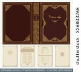 vintage book layouts and design ...
