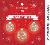 christmas   new year  | Shutterstock .eps vector #326805200