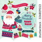 christmas vector illustration... | Shutterstock .eps vector #326809013
