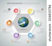 design infographic 6 steps... | Shutterstock .eps vector #326810786