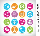 social media icons  network...   Shutterstock .eps vector #326815070