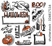 set of halloween elements | Shutterstock .eps vector #326817116